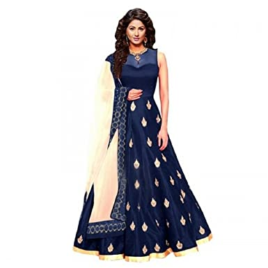 Fashion Dream Women S Dress Material Taffeta Hina Khan N