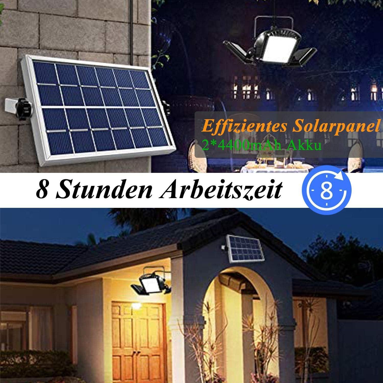 Solarleuchten 60 Led Solarlampe Mit 5m Kabel Fur Aussen Innen Gartenhaus Pavillon 800 Lm Solar Hangeleuchte Deckenleuchte Garten Energieklasse A Amazon De Beleuchtung