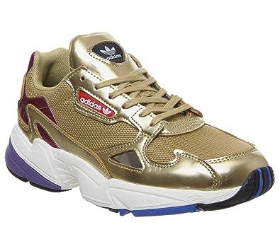 bd451d030c7 adidas Originals Falcon Womens Shoes 7.5 B(M) US Women / 6.5 D(M) US Gold  Met Off White