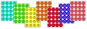 Eureka Back to School Colorful Smiley Face Scratch and Sniff Stickers for Kids, 840pc, 1'' D