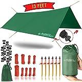13 Foot Rain Fly for Hammock –Light Weight, Diamond-Ripstop Polyester, Hammock Rainfly- 2000 PU Backpacking Tarp…