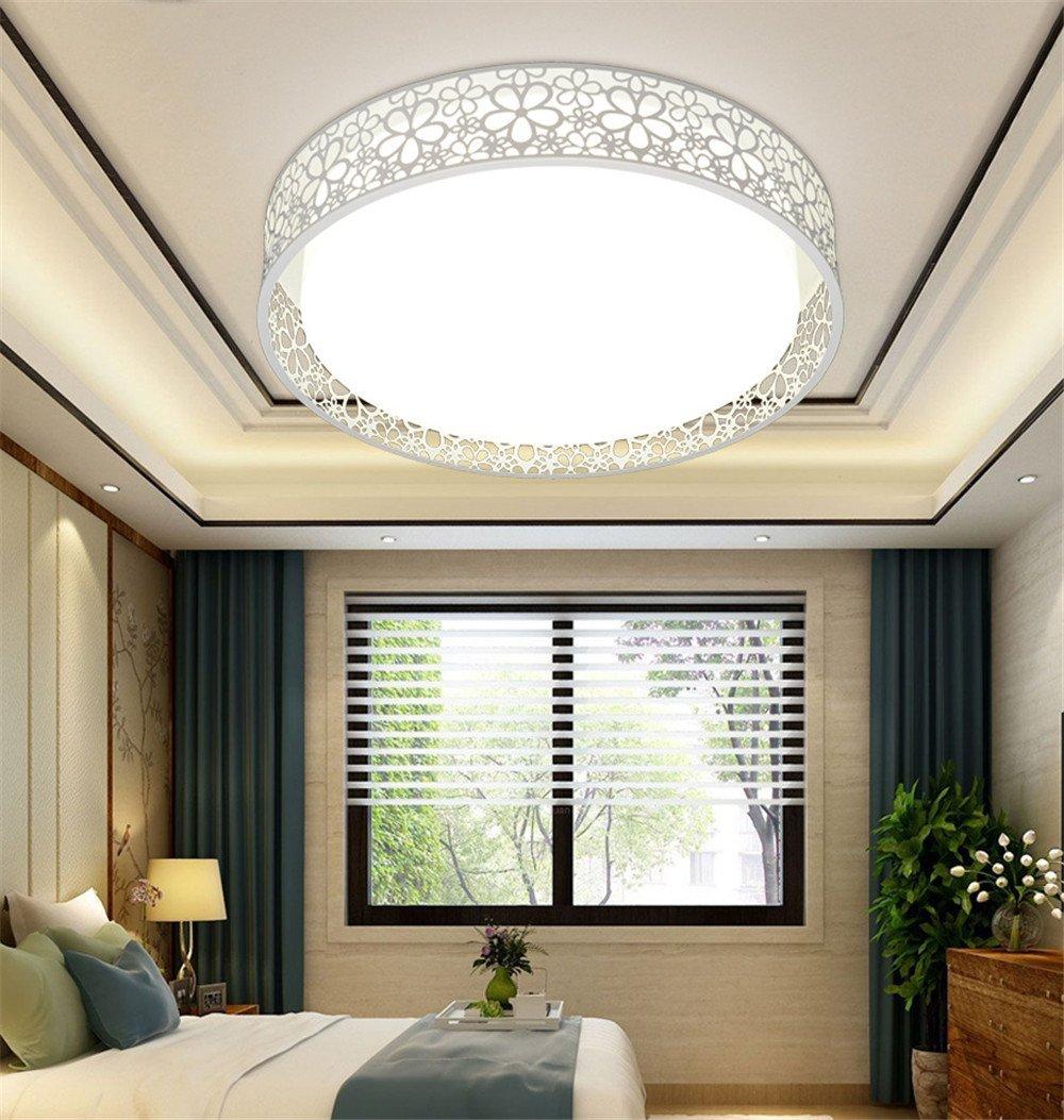 Glstkjgs Deckenleuchte, einfache kreative Wohnzimmer Kinderlampe Schmiedeeisen runden Acryl Acryl Acryl Acryl Lampe Schlafzimmer Decke Wohnzimmer Esszimmer Balkon Lampe Deckenleuchte [Energieklasse A ++] 4d2b2d