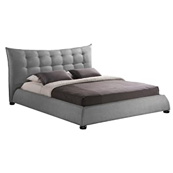 studio linen modern platform bed king gray with storage drawers light wood queen bedroom sets