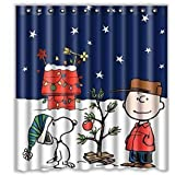 Xmas Shower Curtain 66 X 72 YOYOUG A Great Christmas Decorations Custom Merry Fabric