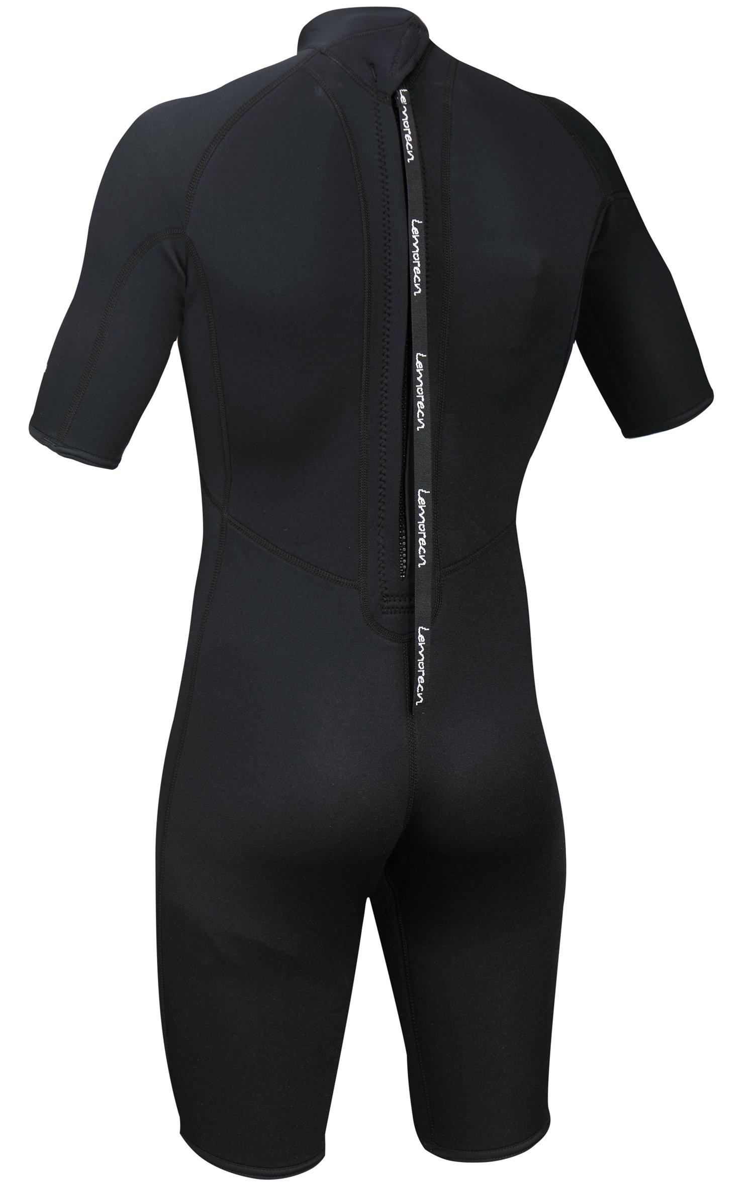 Lemorecn Wetsuits Mens Neoprene 3mm Shorty Diving Suit(3036black-3XL) by Lemorecn (Image #3)