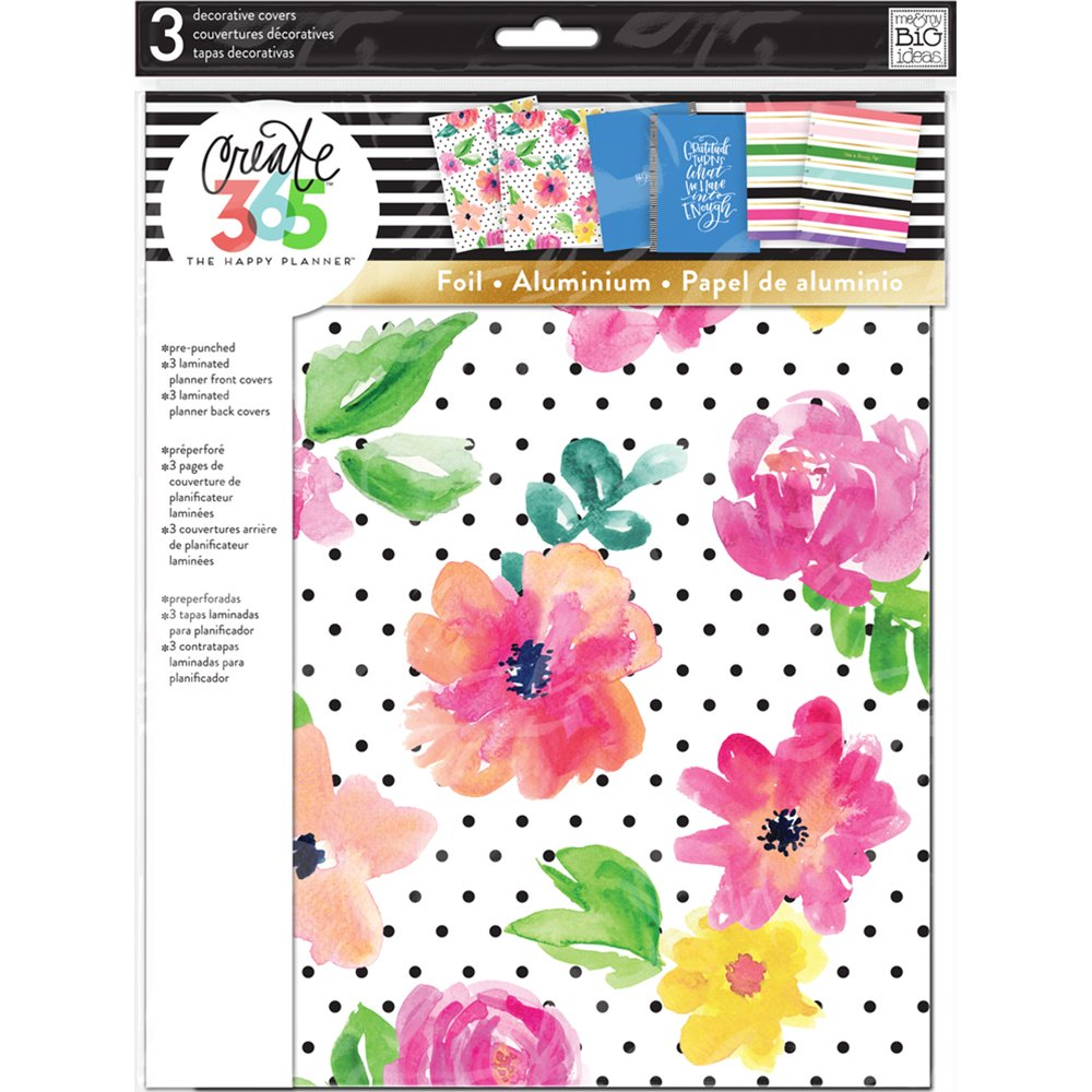me & My Big Ideas The Happy Planner April Flowers Cover, Big COVB-01