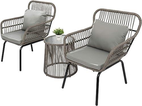 VINGLI 3 Pieces Patio Porch Furniture Sets