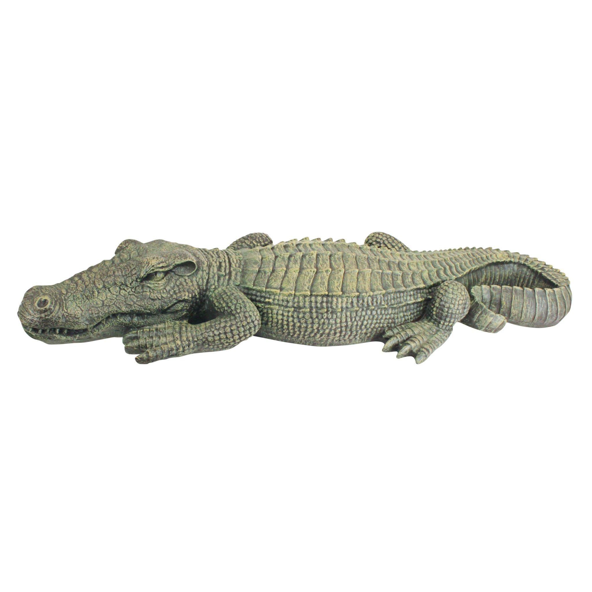 Design Toscano The Swamp Beast Lawn Alligator Crocodile Garden Sculpture, 37 Inch, Polyresin, Full Color by Design Toscano (Image #2)