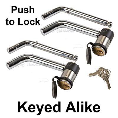 Master Lock Keyed Alike Trailer Hitch Locks 2866KA-2: Automotive