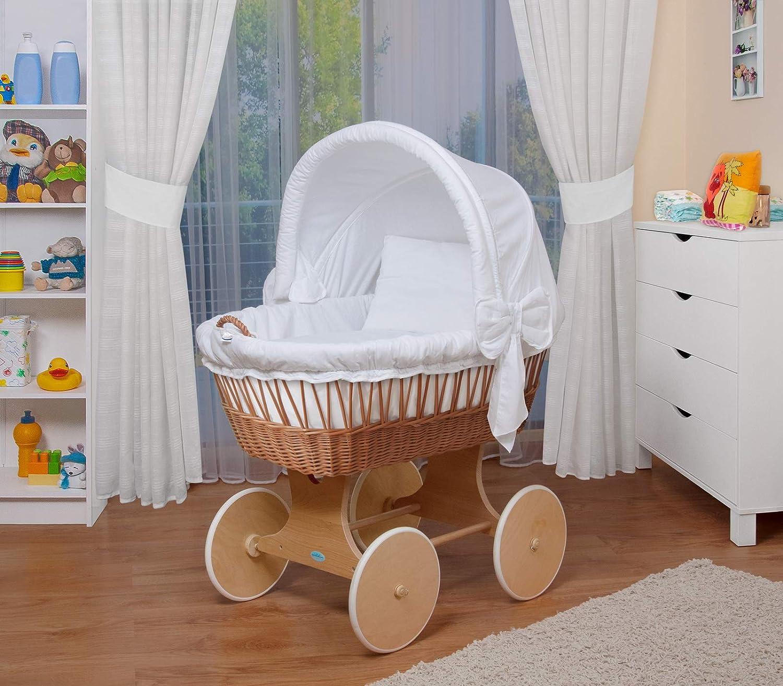 WALDIN Baby Bollerwagen,Stubenwagen,komplett mit Zubehör,XXL NEU !! Grau//Sterne