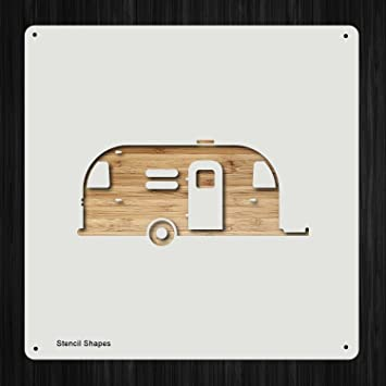 Trailer Adventure Camping Camper Airstream Plastic Mylar Stencil for  Painting, Walls and Crafts, Item 237462