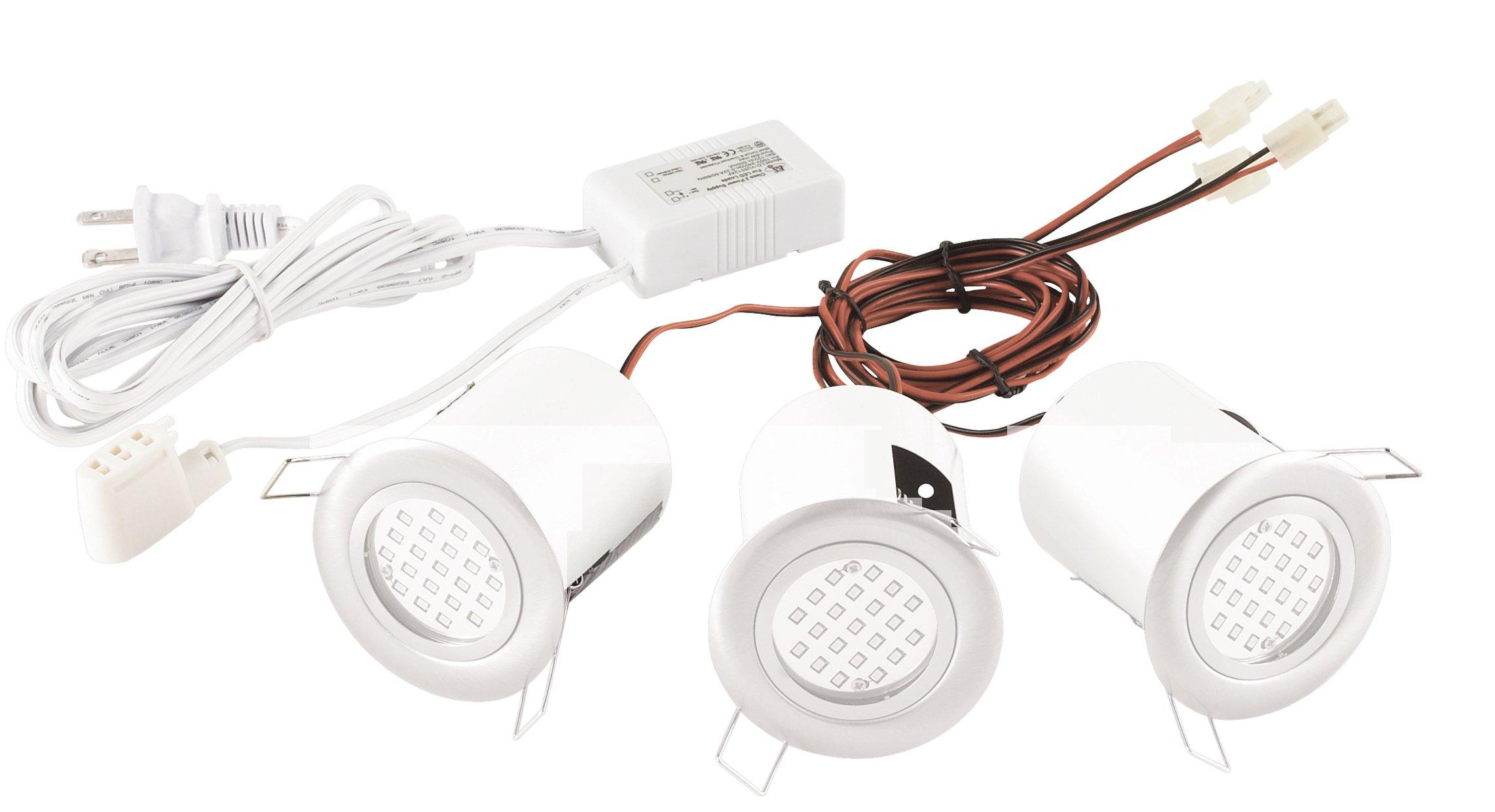 Eurofase 19541-013 3-Light Mini Pot Fixed Downlight, White
