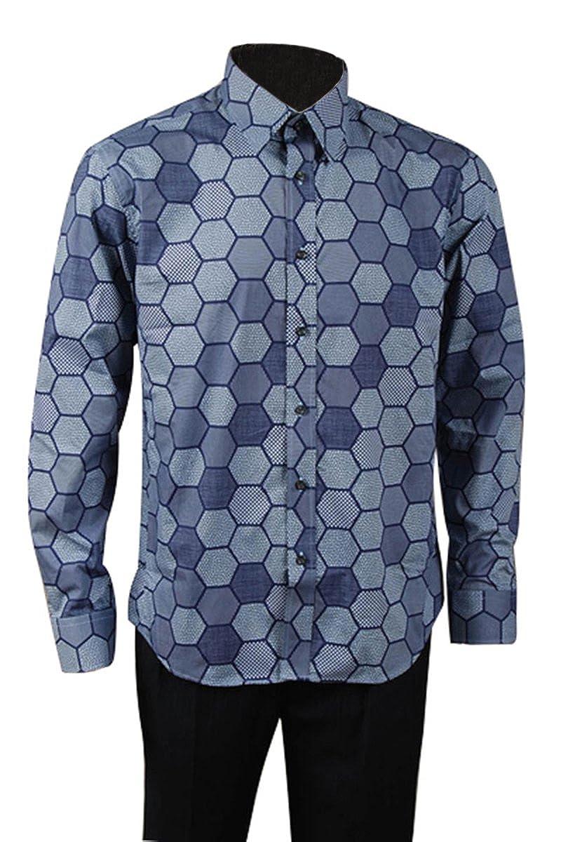 TALLA XL. Manfis - Camisa Casual - Manga Larga - para Hombre
