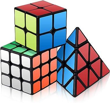Vdealen Cubo Mágico Puzzle Pack Speed Cube (2x2x 3x3 Pyramid): Amazon.es: Juguetes y juegos