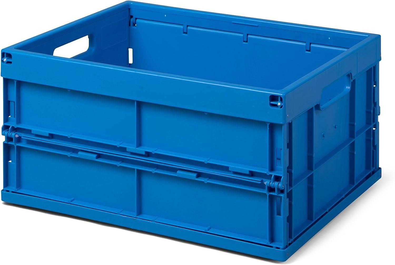 Plegable caja/FB 475/240–0–Caja plegable, 32L, 475x 350x 240mm (LxBxH), Azul, calidad industrial