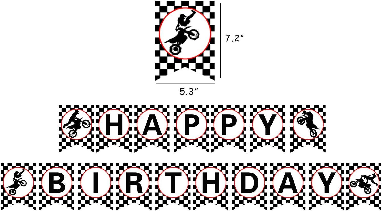 Motocross Birthday Banner Dirt Bike Happy Birthday Banner Motocross Dirt Bike Party Decorations. Motocross Happy Birthday Banner