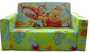 Disney Designs Cloth/Foam Flip Out Sofa Pooh And Friends With Material  Finish, 70