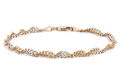 Carissima Gold 9 ct 30 Twist Curb Chain Bracelet 19 cm/7.5 inch dO1jJFpUe