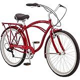 Schwinn Sanctuary 7 Comfort Cruiser Bike, Featuring Retro-Styled 18-Inch/Medium Steel Step-Over Frame and 7-Speed Drivetrain