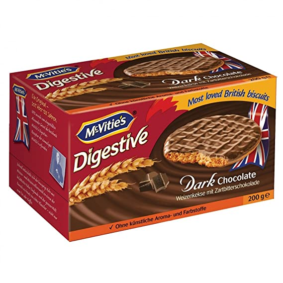 Digestive Dark Chocolate Original McvitieS 300G.