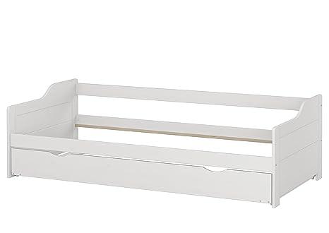 Erst-Holz Blanco letto-divano 90 X 200 Pino Eco con Cama Sin Láminas
