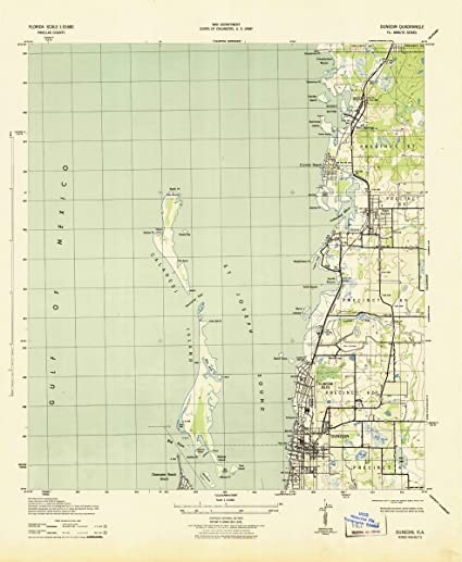 Map Of Dunedin Florida.Amazon Com 1943 Dunedin Fl Usgs Historical Topographic Map Fine