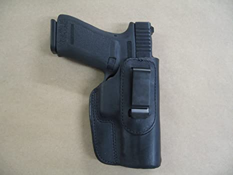 Canik TP9 9mm IWB Leather In The Waistband Conceal Carry Holster Black RH