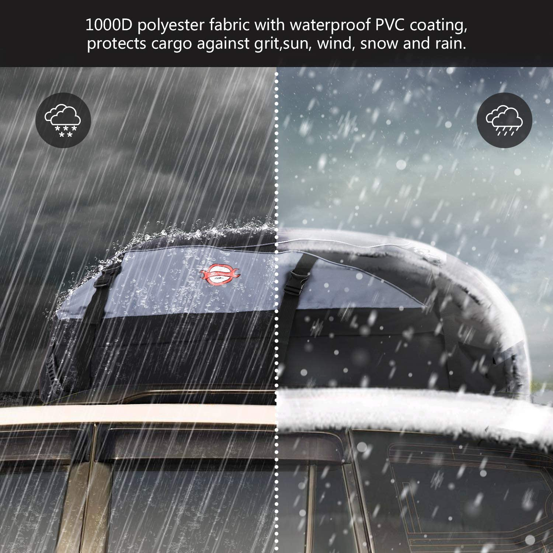 Dachbox 580L Faltbare Auto Dachkoffer Gep/äckbox Wasserdicht Tragbar Dachboxen Dachgep/äcktr/äger Tasche f/ür Reisen und Gep/äcktransport Schwarz 20 Kubikfu/ß
