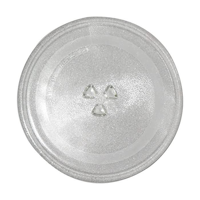 Microwave Replacement Glass Tray,12.5 in(31.5cm) Diameter Thickened Heat Resistant Microwave Glass Plate Turntable Tray Accessories Y-Bottom General,Durable Glass Dish for Microwave Oven