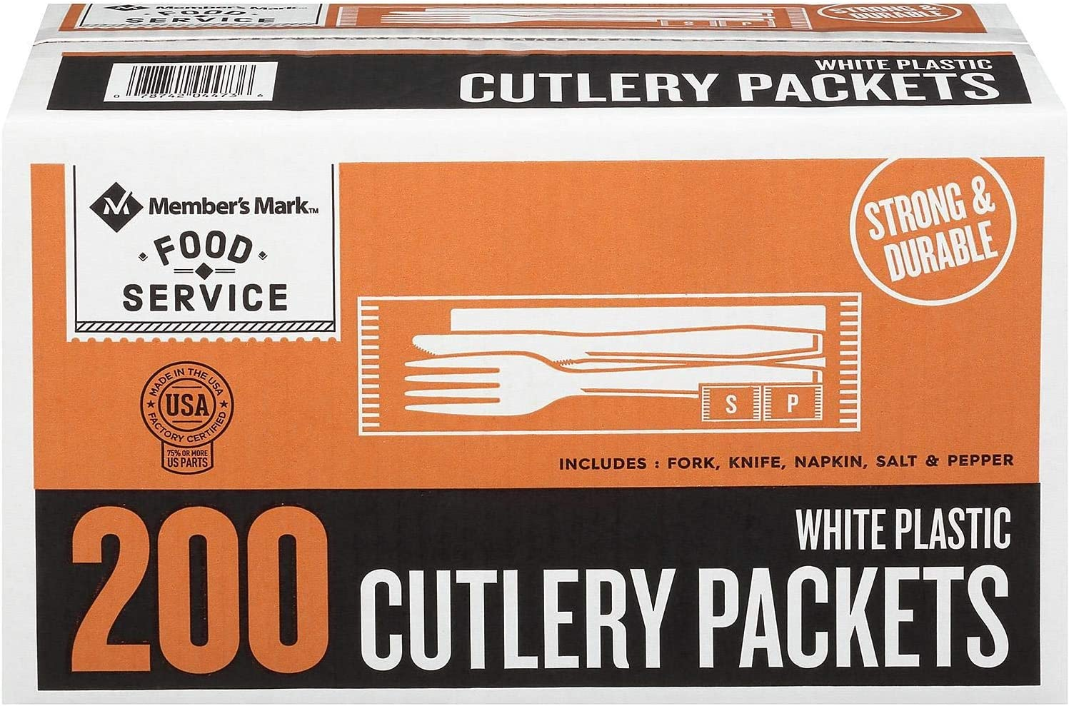 Daily Chef Plastic Cutlery Picnic Pack