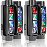U`King Spider Moving Head Light 8x10W LEDs Beam DJ Lights RGBW Sound Activated and DMX-512 Control for Party Pub Disco…