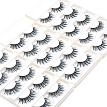 6a26a08f16b Amazon.com : Wleec Beauty 3D Silk Lashes Handmade Natural False Eyelash Pack  #3D/19 (15 Pairs/3 Pack) : Beauty