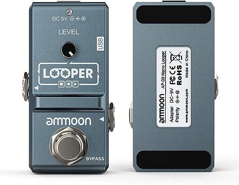 ammoon AP-09 Nano Loop Pedal Efecto Guitarra Eléctrica True Bypass ...