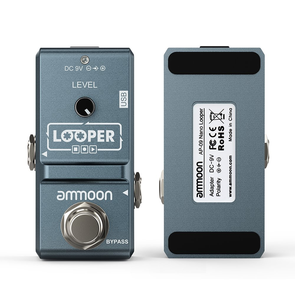 ammoon AP-09 Nano Loop Electric Guitar Effect Pedal Looper True Bypass Unlimited Overdubs 10 Minutes Recording with USB Cable by ammoon (Image #4)