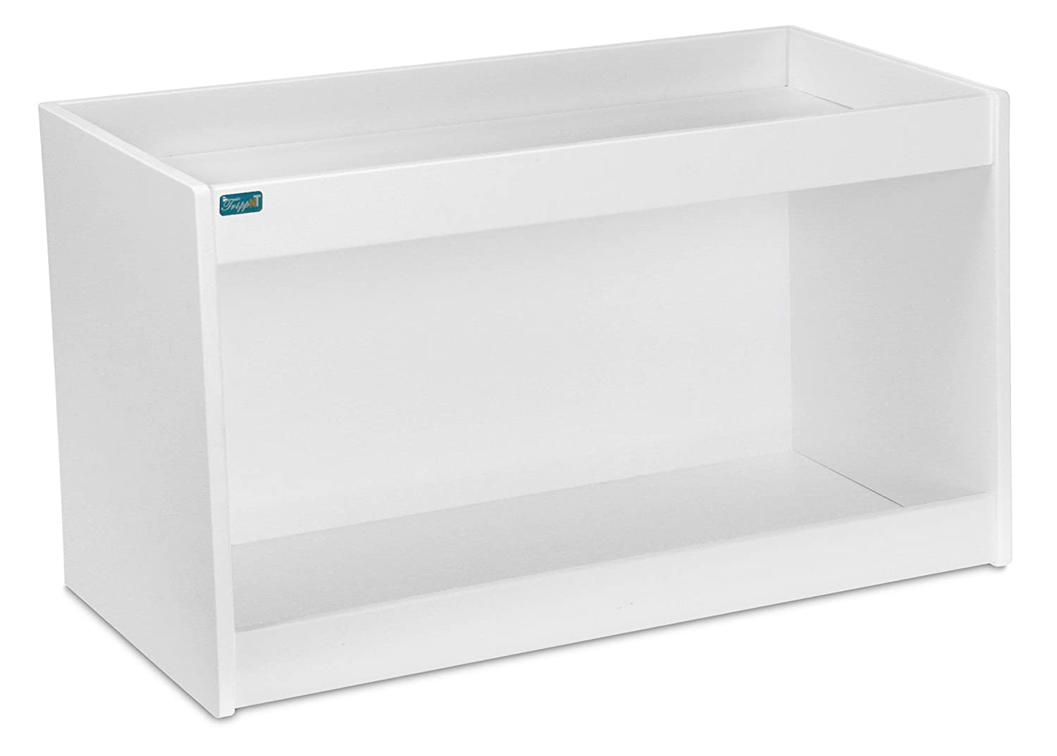 24 Width x 12 Height x 7 Depth TrippNT 50089 PVC Straight Double Safety Shelves White
