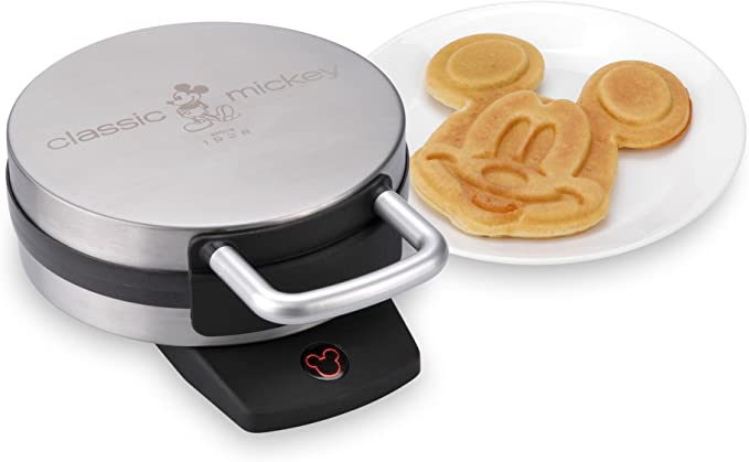 22 Disney Gifts for Mom featured by top US Disney blogger, Marcie and the Mouse: Disney DCM-1 Classic Mickey Waffle Maker, Brushed Stainless Steel
