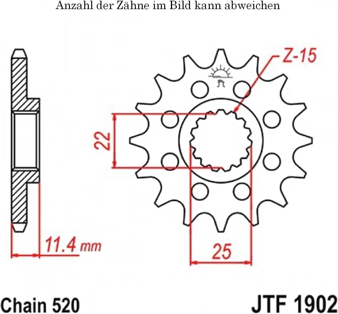Ritzel 14 Z/ähne f/ür SMC 690 Supermoto Baujahr 2008-2011 von jtSprockets