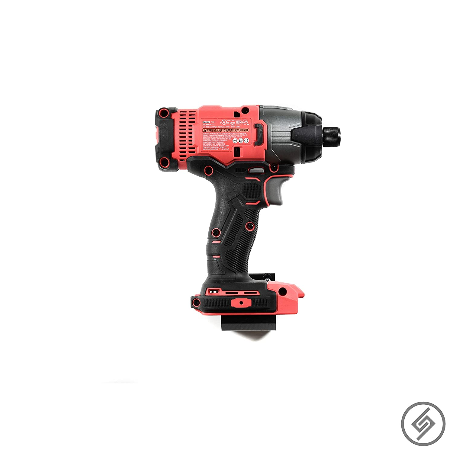 Power Tool Storage Wall Display Hook Holder Spartan Mount for Craftsman 20V Tool All Types Convenient Easy Access Garage Organization Blog DIY Craft Room Strong Low Profile Bracket