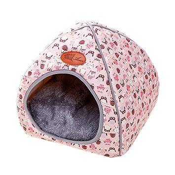 Amazon.com: Cama para gatos y perros, tienda de campaña ...