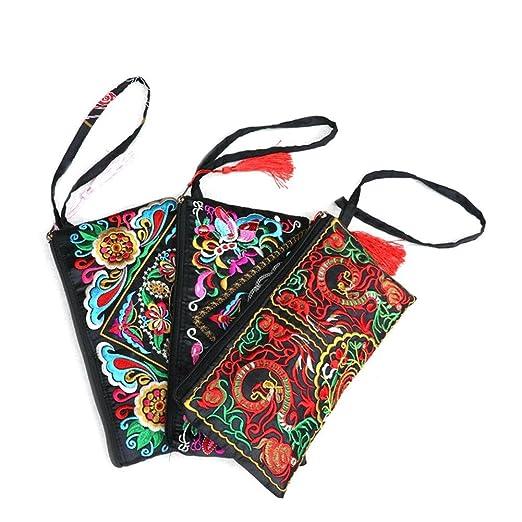 96685c6f33 Rita665Jimmy Borsa della frizione del polso del pochette del polso del  ricamo della borsa etnica cinese Handmade Lady delle donne del regalo del  ...