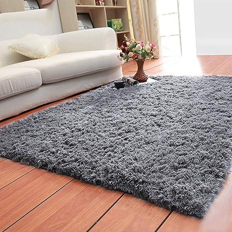 Uplord Fluffy Rugs Anti-Skid Ultra Soft Modern Area Rugs Shaggy Nursery Rug Home Room Plush Carpet Decor for Bedroom Living Room Floor