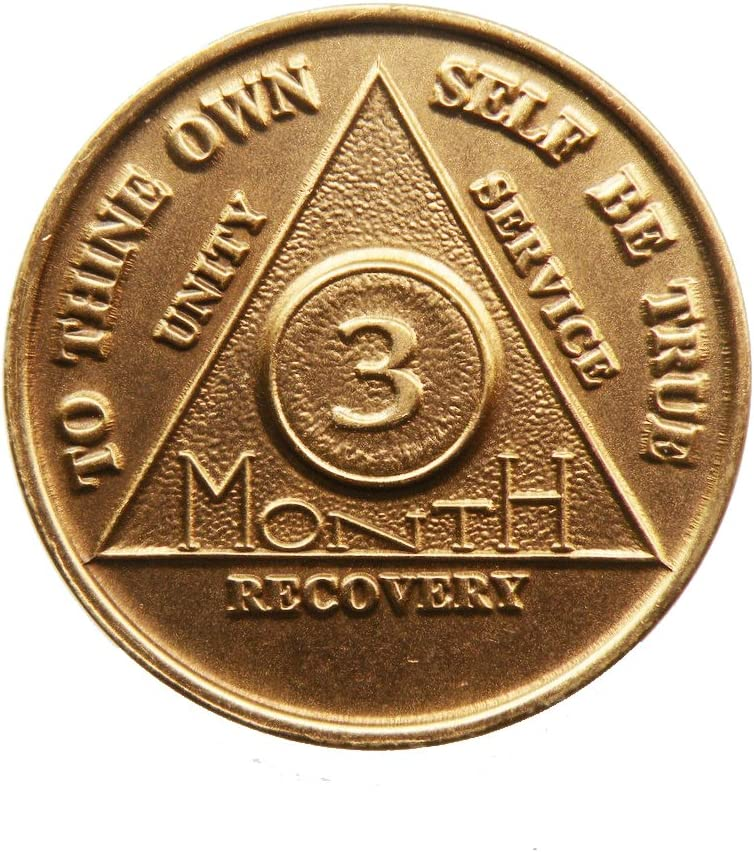 Medallion AA Anonymous Anniversary SIX Month Alcoholics  Coin Chip