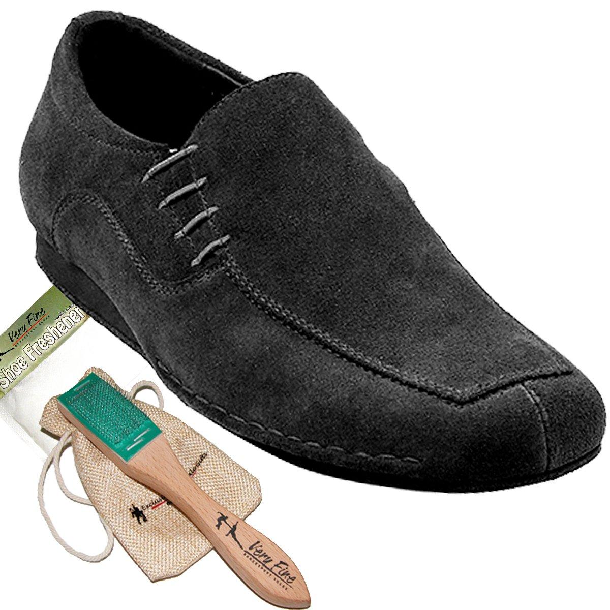 Men's Ballroom Latin Salsa Sneaker Dance Shoes Suede SERO102BBXEB Comfortable - Very Fine (Bundle Of 5) B078S3N2XM 10.5 D(M) US Black
