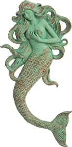 Cape Craftsmen Verdigris Rapunzel Mermaid Resin Wall Décor