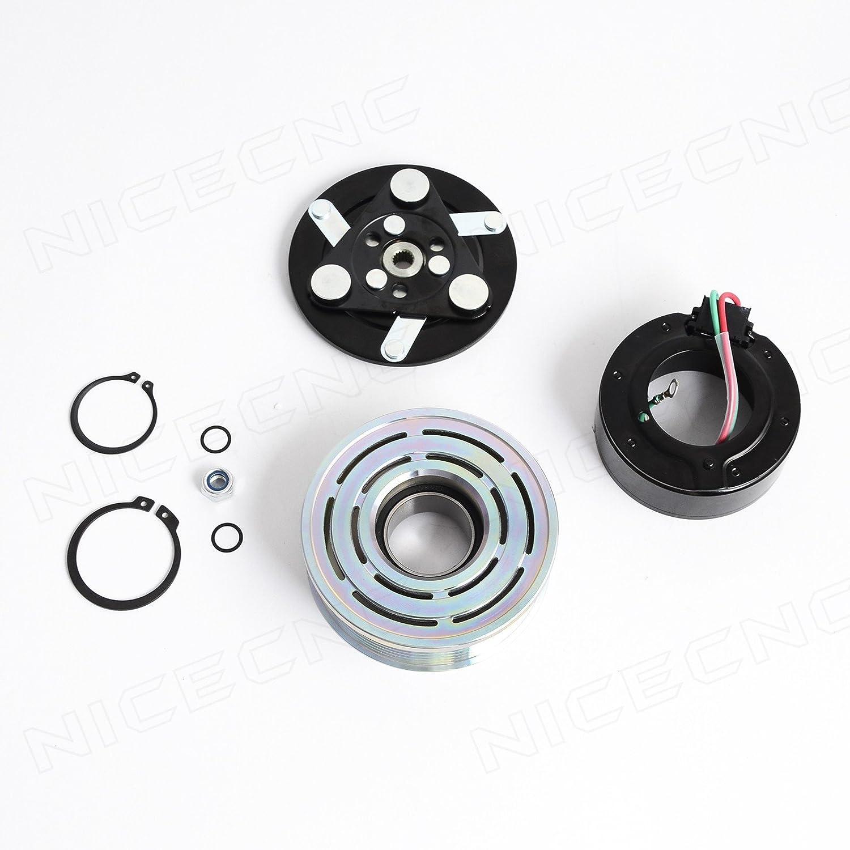 NICECNC AC A/C Compressor Clutch Repair Kit for Honda Civic 2006 2007 2008 2009 2010 2011 1.8 Liter Sanden Trse07 4901/4918