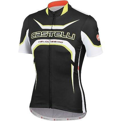 Castelli Velocissimo Tour Full-Zip Jersey - Short Sleeve - Men s Black  White  dc3aa9613