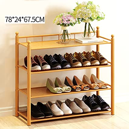 Xiegui Shoe Rack Natural Bamboo Shoe Rack, Living Room Multi Purpose Racks,  Household