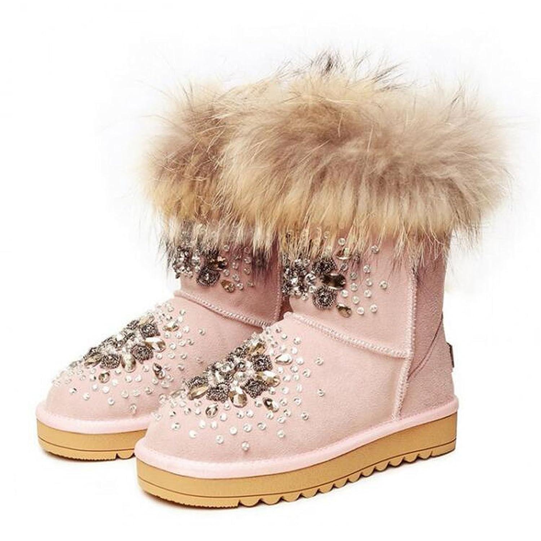 Superpark Shoes Women Rhinestone Snow Boots Handmade