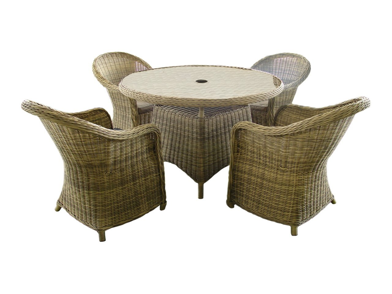 Modena 120cm Table and four Relax Dining Chairs including seat ...