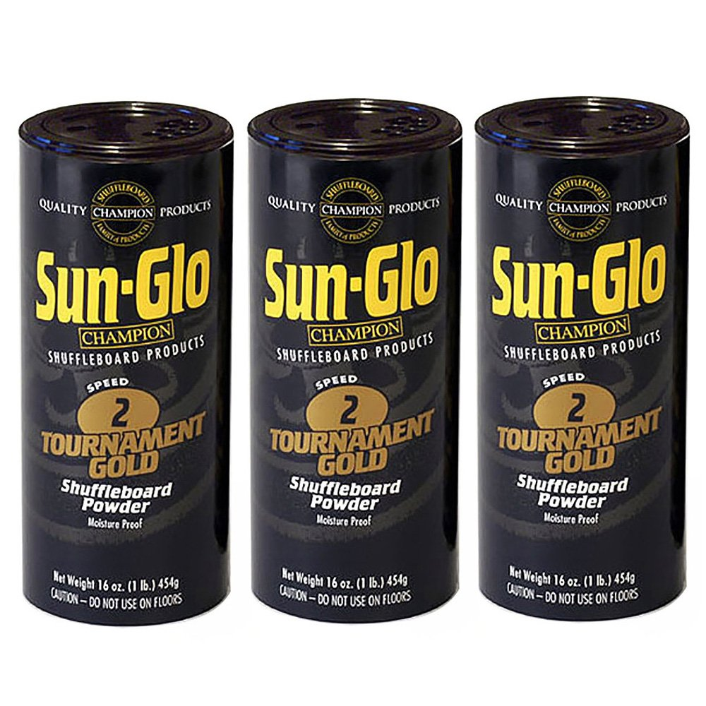 3 Pack Sun-Glo #2 Speed Shuffleboard Powder Wax by Sun-Glo